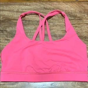 Lululemon Energy Bra Luxtreme Bright Pink Size 6